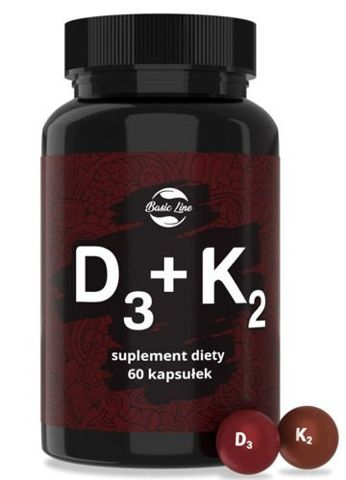 Witamina D3+K2 Noble Health x 60 kapsułek